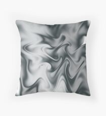 Grey silk Throw Pillow