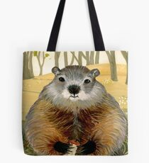 Friendly Woodchuck Tote Bag