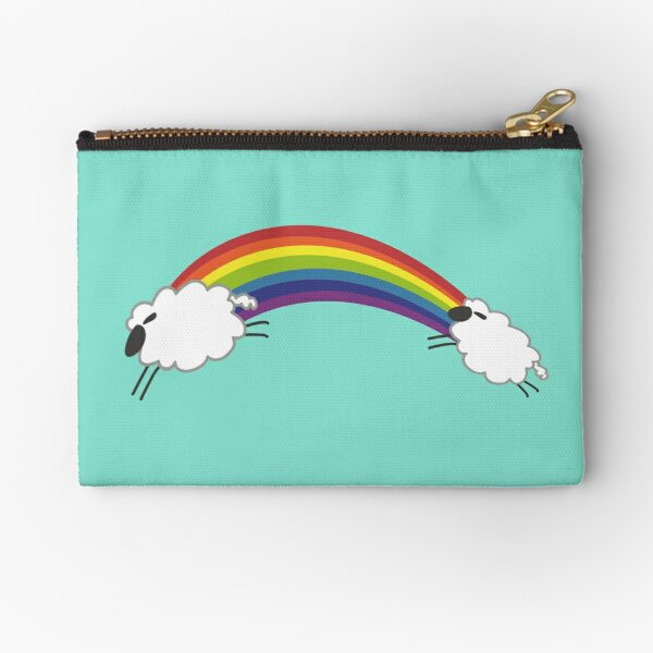 Sheep Following The Rainbow Zipper Pouch