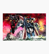 Gundam Fight! Photographic Print
