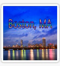 Harvard Bridge, colorful reflection Sticker