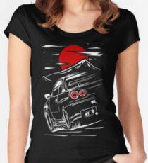 Camiseta entallada de cuello redondo Nissan Skyline GTR 34   Haruna
