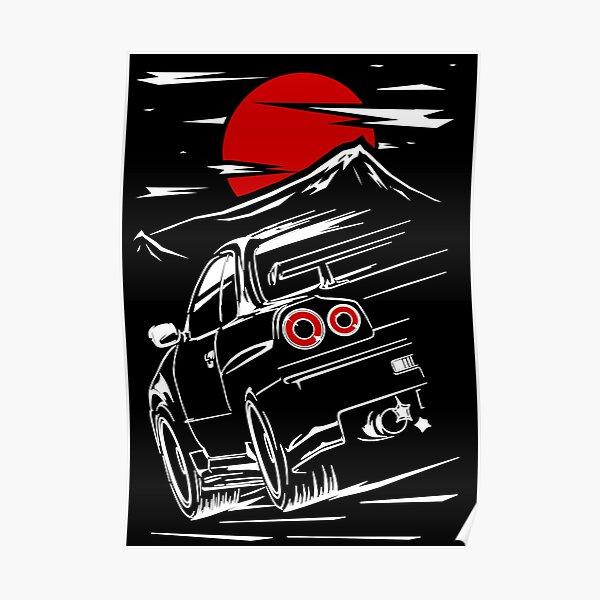 Nissan Skyline GTR 34 | Haruna Póster