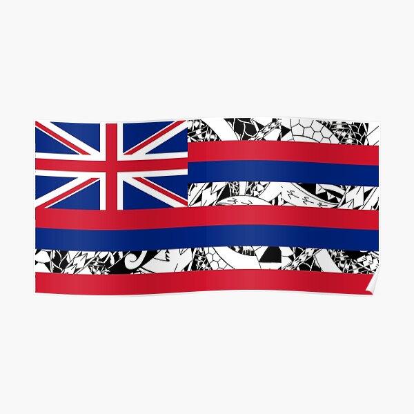 Polynesian Tribal - Flag of Hawaii Poster
