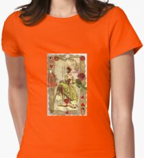 Queen Of Hearts (& Flowers) Womens Fitted T-Shirt