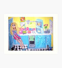 """Doll's Coffee Break"" Art Print"