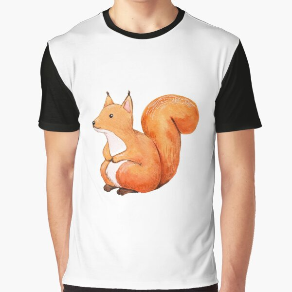 Cute squirrel, hand drawn watercolor illustration Graphic T-Shirt