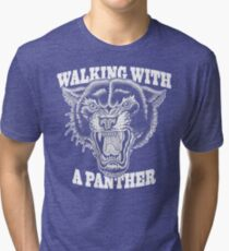 Walking with a panther tattoo design Tri-blend T-Shirt