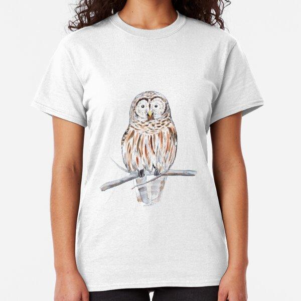 Cute watercolor owl Classic T-Shirt