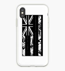 Polynesian Flag of Hawaii - Vertical - BW iPhone Case
