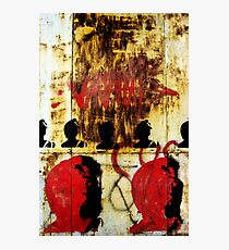 REDFACE (vertical version) Photographic Print