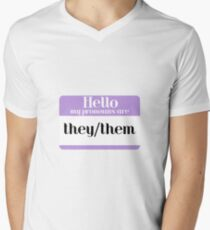 they/them pronouns Men's V-Neck T-Shirt