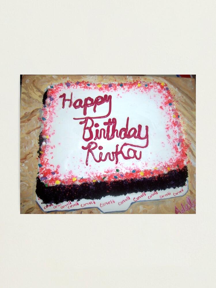 Peachy Birthday Cake Photographic Print By Adela Redbubble Funny Birthday Cards Online Elaedamsfinfo
