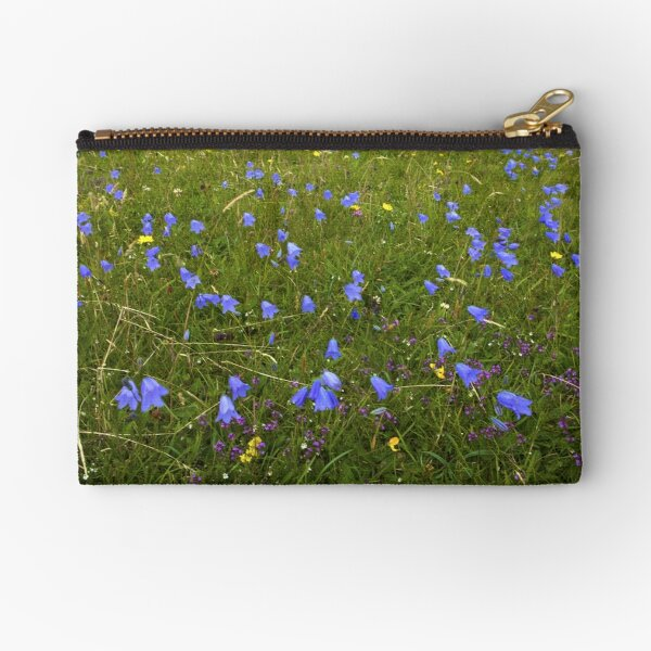 A sea of Harebells, Rossbeg, Co Donegal Zipper Pouch