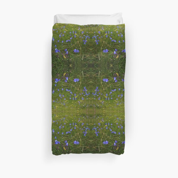 A sea of Harebells, Rossbeg, Co Donegal Duvet Cover