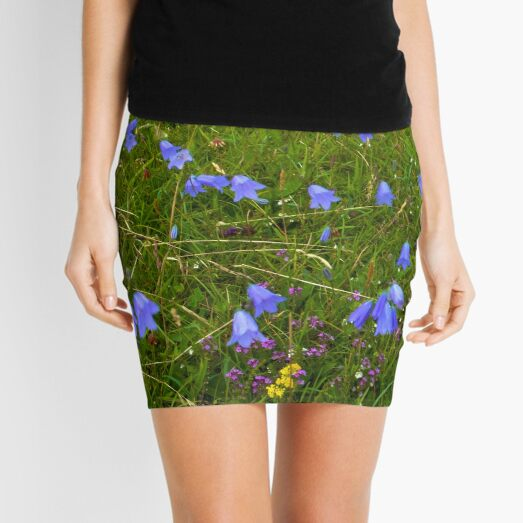 A sea of Harebells, Rossbeg, Co Donegal Mini Skirt