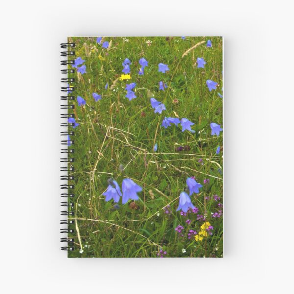 A sea of Harebells, Rossbeg, Co Donegal Spiral Notebook