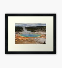 Grand Prismatic (Yellowstone Park) Framed Print