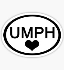 UMPH LOVE Euro Car Sticker Sticker