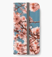 Pink Flowers Blooming Peach Tree at Spring iPhone Wallet/Case/Skin