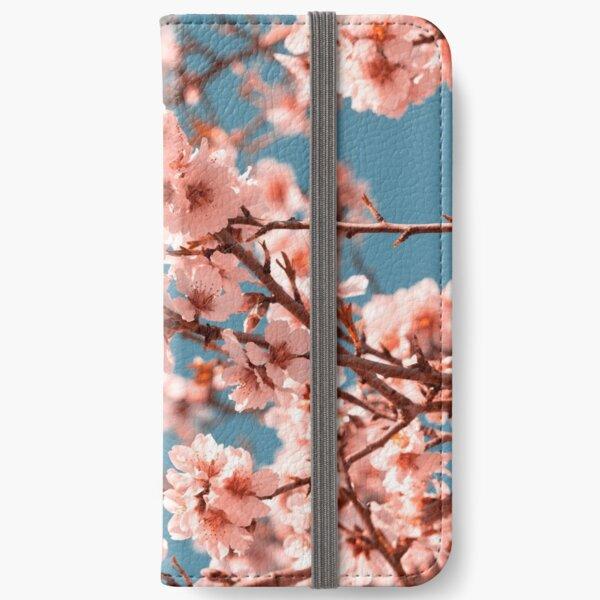 Pink Flowers Blooming Peach Tree at Spring iPhone Wallet