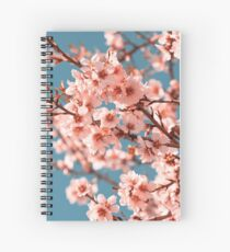 Pink Flowers Blooming Peach Tree at Spring Spiral Notebook