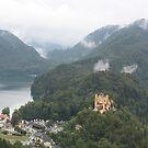 Alpsee and Hohenschwangau Castle by Elena Skvortsova