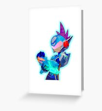 Icy Geo Stelar Greeting Card