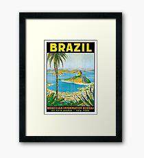 Brazil, vintage travel poster Framed Print