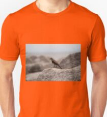Bird On A Rock By The Sea Unisex T-Shirt
