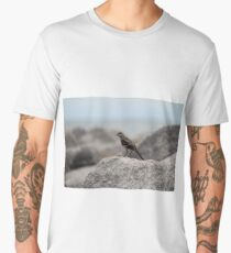 Bird On A Rock By The Sea Men's Premium T-Shirt