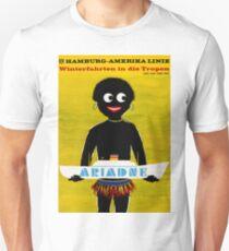 Oversea, boat line, tourist ship, cruiser, vintage travel poster, illustration T-Shirt