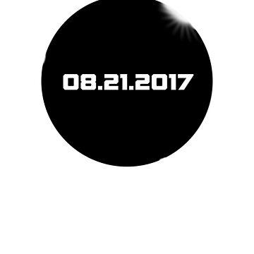 2017 Solar Eclipse T-Shirt, August 21 2017 by jgmorga3
