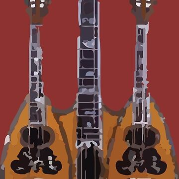 Mandolin Sketch Three Neck by lifeofdunn