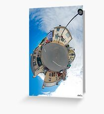 Kilcar Main Street - Sky Out Greeting Card