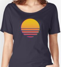 Outrun Retro Sun Women's Relaxed Fit T-Shirt