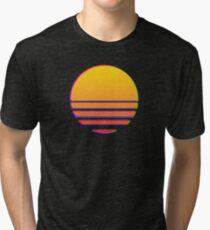Outrun Retro Sun Tri-blend T-Shirt