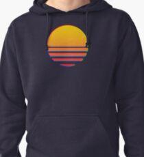 Outrun Retro Sun Pullover Hoodie
