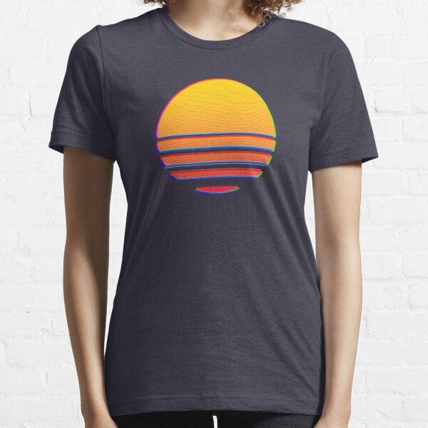 Outrun Retro Sun Essential T-Shirt