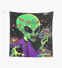 Psychedelic Alien Wall Tapestry