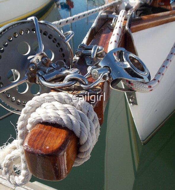 Bowsprit Brightwork by sailgirl