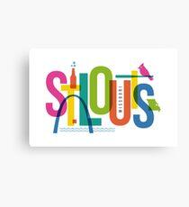 St. Louis, Missouri Typography City Collage Canvas Print