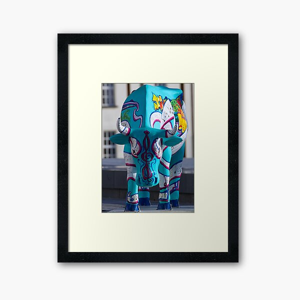 Painted Cow by Cathedral Youth, Ebrington Square Derry Framed Art Print