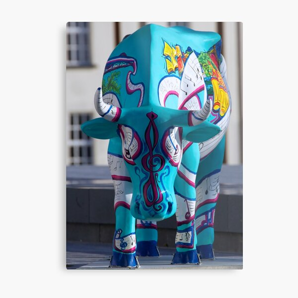 Painted Cow by Cathedral Youth, Ebrington Square Derry Metal Print