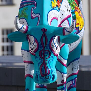Painted Cow by Cathedral Youth, Ebrington Square Derry by VeryIreland