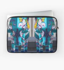 Painted Cow by Cathedral Youth, Ebrington Square Derry Laptop Sleeve