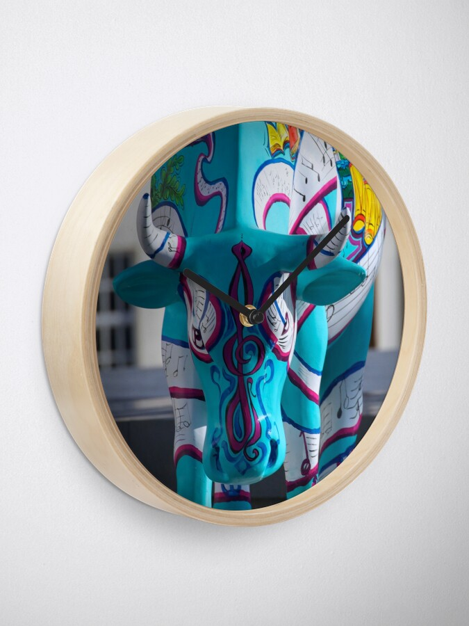 Alternate view of Painted Cow by Cathedral Youth, Ebrington Square Derry Clock