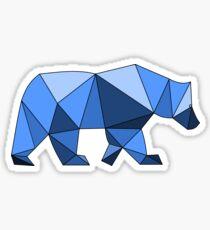 Geometric Bear Blue Sticker
