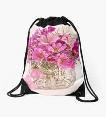 Cosmos - Summers Last Bouquet  Drawstring Bag