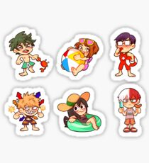 BNHA Summer Stickers Sticker